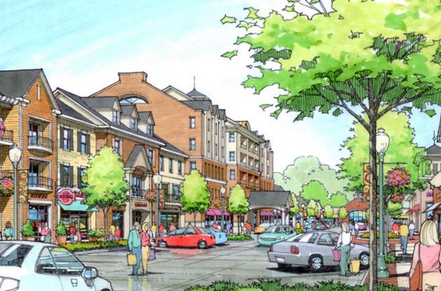 "Rendering of the ""Amherst Town Centre"""